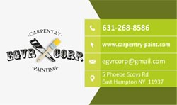 EGVR CORP Carpentry-Painting